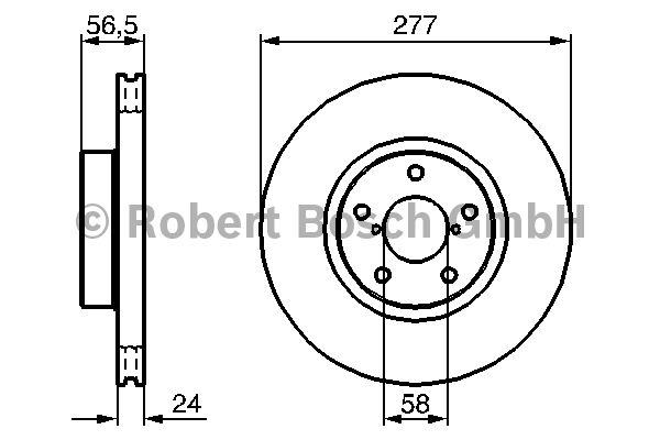 Disque de frein - BOSCH - 0 986 479 147