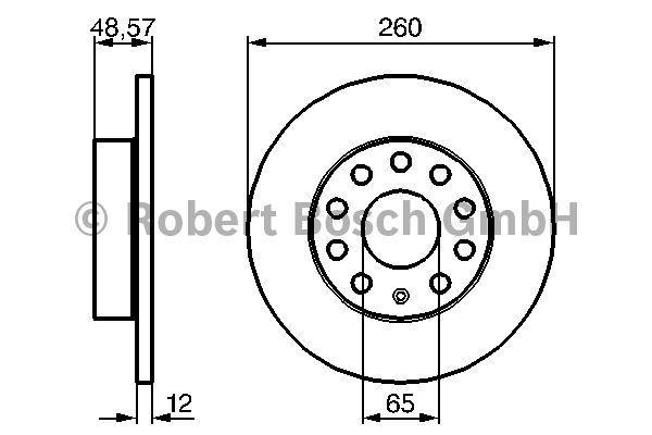 Disque de frein - BOSCH - 0 986 479 155