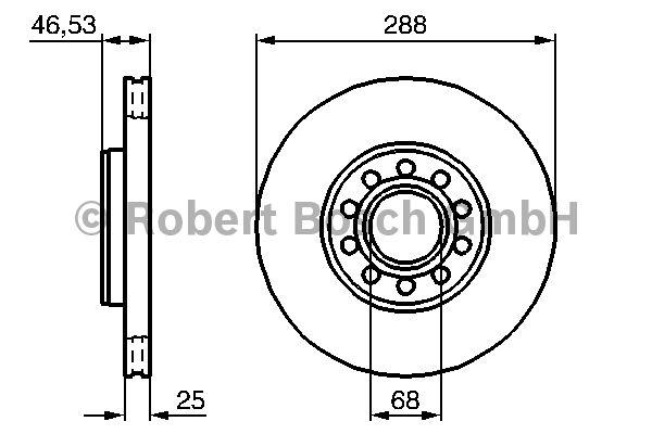 Disque de frein - BOSCH - 0 986 479 157
