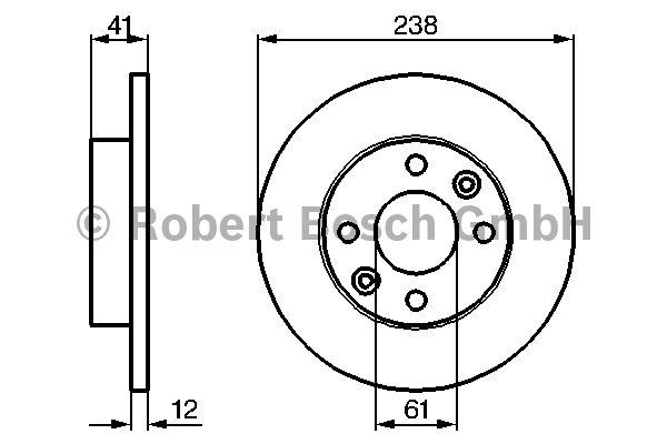 Disque de frein - BOSCH - 0 986 479 165