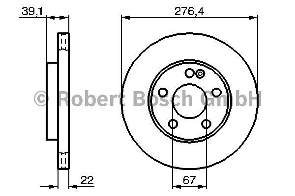 Disque de frein - BOSCH - 0 986 479 186