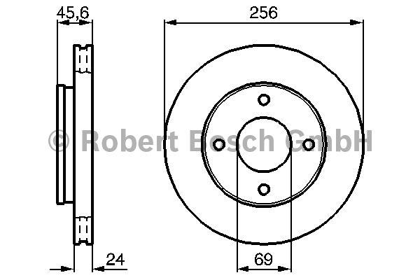 Disque de frein - BOSCH - 0 986 479 187