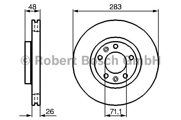 Disque de frein - BOSCH - 0 986 479 193