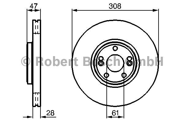 Disque de frein - BOSCH - 0 986 479 199