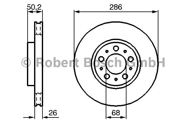Disque de frein - BOSCH - 0 986 479 210