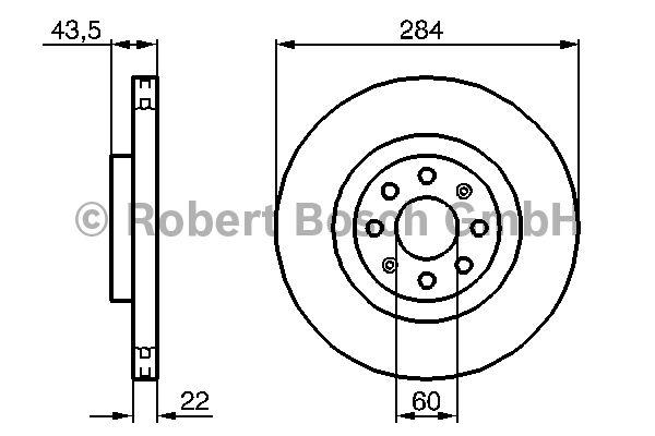 Disque de frein - BOSCH - 0 986 479 224
