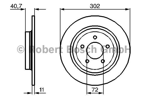 Disque de frein - BOSCH - 0 986 479 233