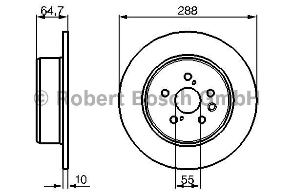 Disque de frein - BOSCH - 0 986 479 243