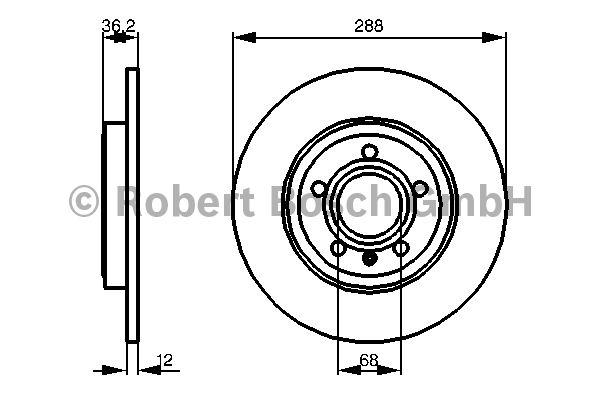 Disque de frein - BOSCH - 0 986 479 252