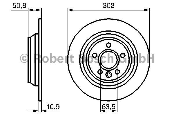 Disque de frein - BOSCH - 0 986 479 254