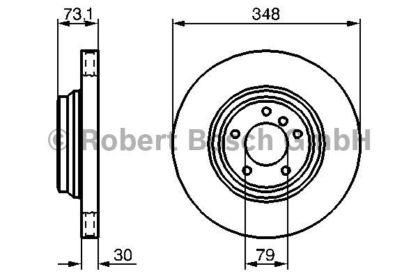 Disque de frein - BOSCH - 0 986 479 265