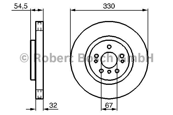 Disque de frein - BOSCH - 0 986 479 269