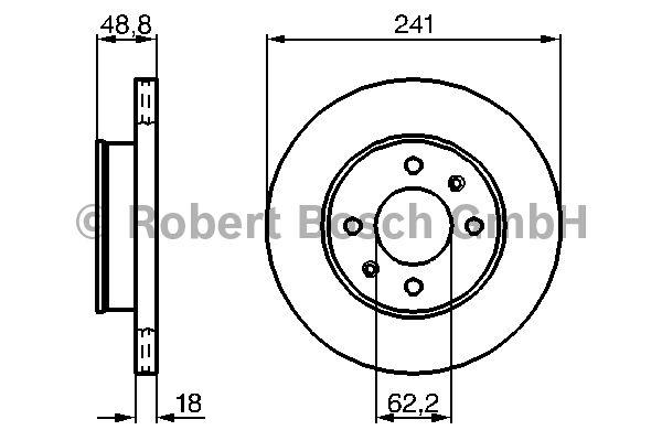Disque de frein - BOSCH - 0 986 479 286