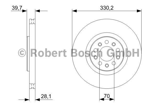 Disque de frein - BOSCH - 0 986 479 290