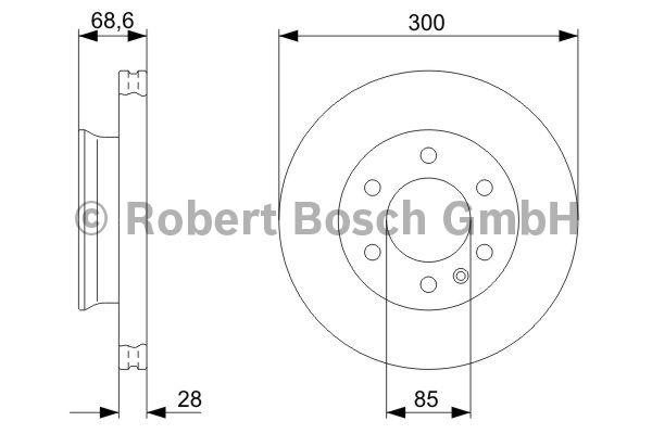 Disque de frein - BOSCH - 0 986 479 294