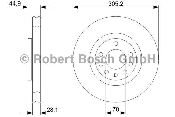 Disque de frein - BOSCH - 0 986 479 325