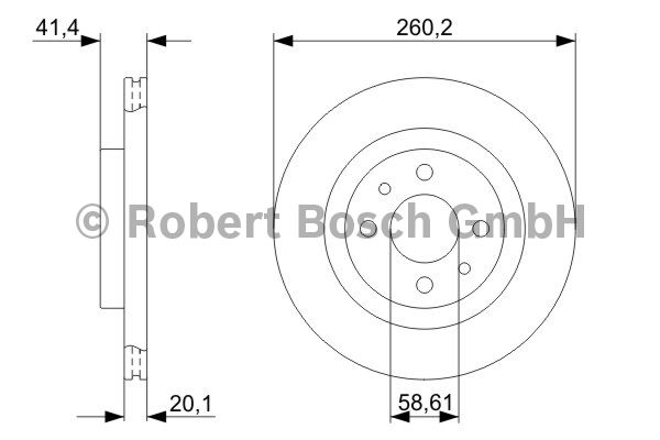Disque de frein - BOSCH - 0 986 479 346