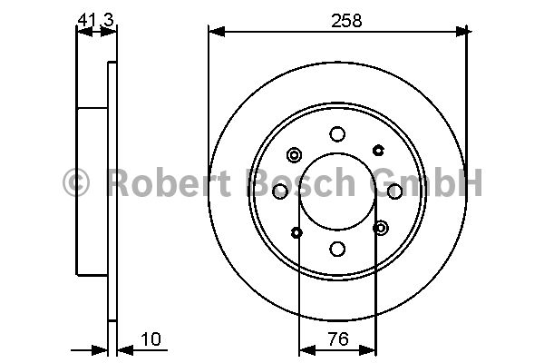 Disque de frein - BOSCH - 0 986 479 462