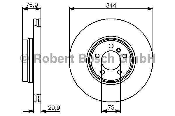 Disque de frein - BOSCH - 0 986 479 475