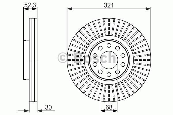 Disque de frein - BOSCH - 0 986 479 690