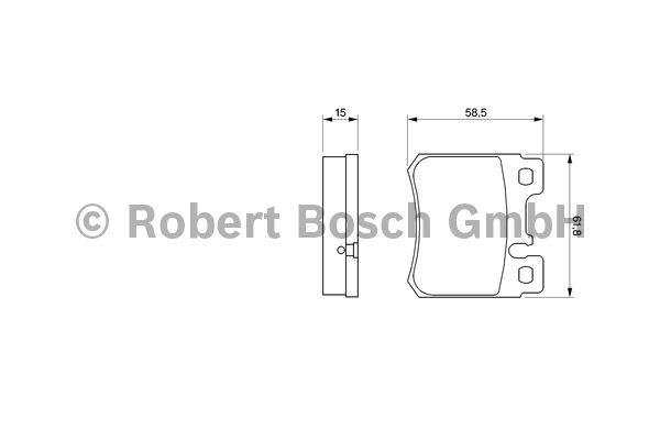 Kit de plaquettes de frein, frein à disque - BOSCH - 0 986 490 260