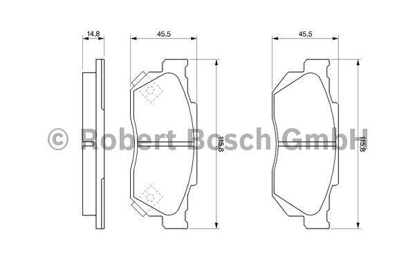 Kit de plaquettes de frein, frein à disque - BOSCH - 0 986 490 440