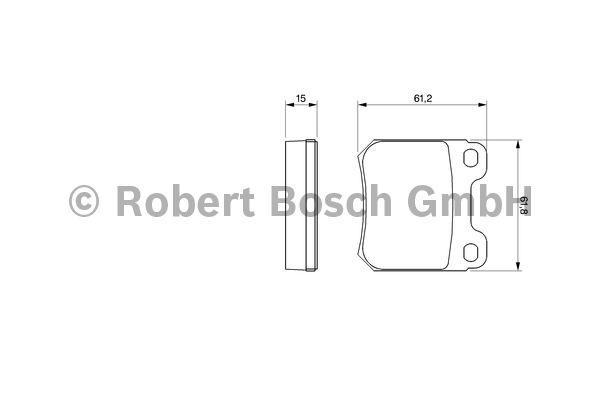 Kit de plaquettes de frein, frein à disque - BOSCH - 0 986 490 500