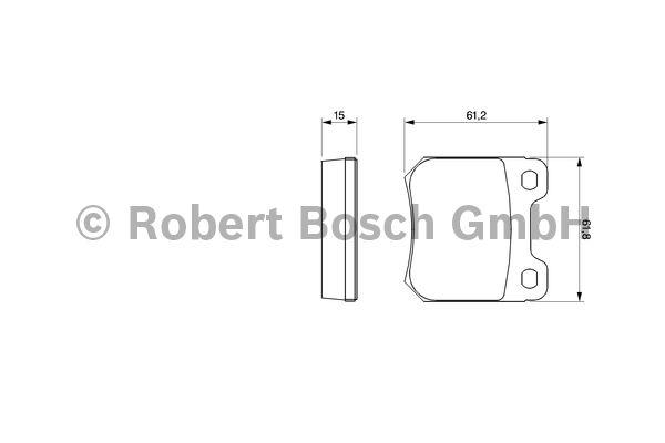 Kit de plaquettes de frein, frein à disque - BOSCH - 0 986 490 510