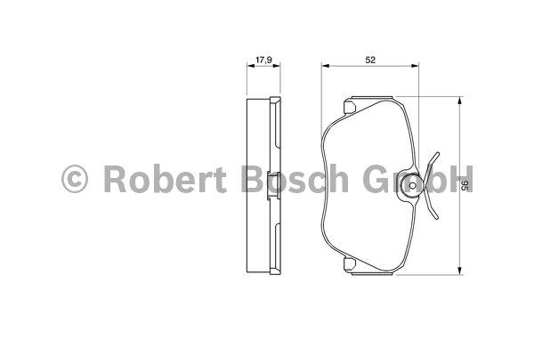 Kit de plaquettes de frein, frein à disque - BOSCH - 0 986 490 550