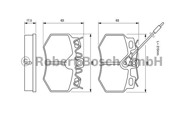 Kit de plaquettes de frein, frein à disque - BOSCH - 0 986 490 800