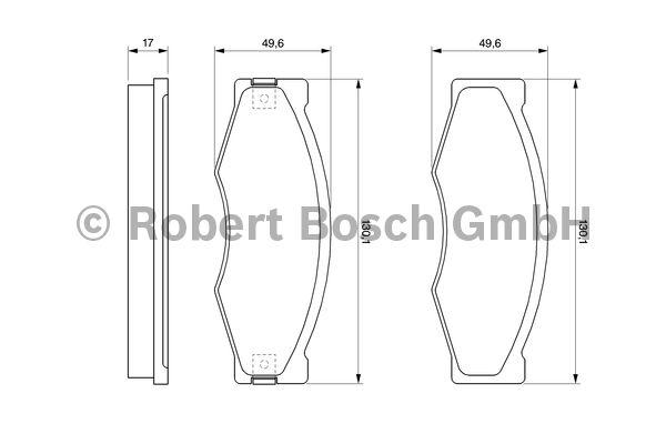 Kit de plaquettes de frein, frein à disque - BOSCH - 0 986 490 990