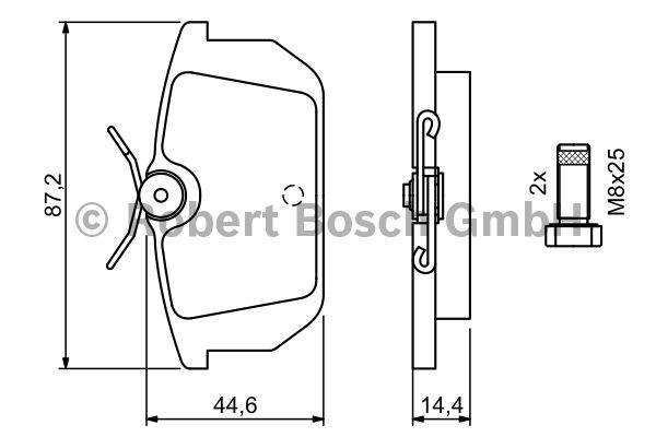 Kit de plaquettes de frein, frein à disque - BOSCH - 0 986 491 030