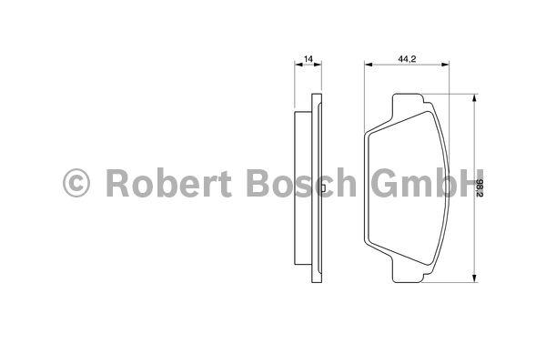 Kit de plaquettes de frein, frein à disque - BOSCH - 0 986 491 250