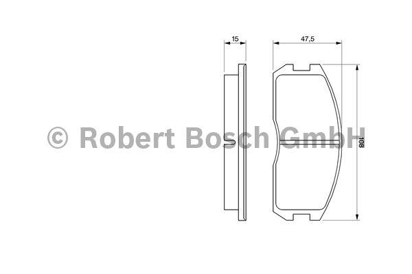 Kit de plaquettes de frein, frein à disque - BOSCH - 0 986 491 260