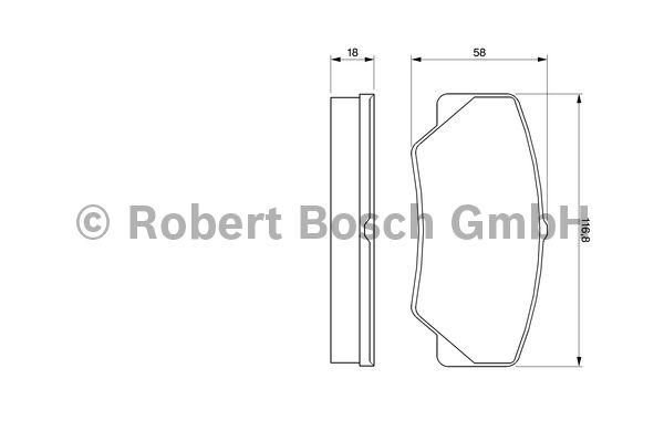 Kit de plaquettes de frein, frein à disque - BOSCH - 0 986 491 410