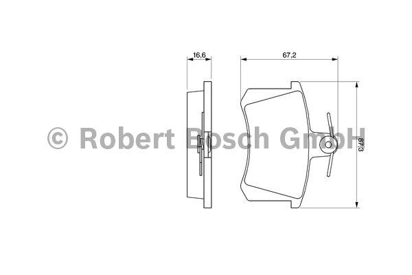 Kit de plaquettes de frein, frein à disque - BOSCH - 0 986 494 059