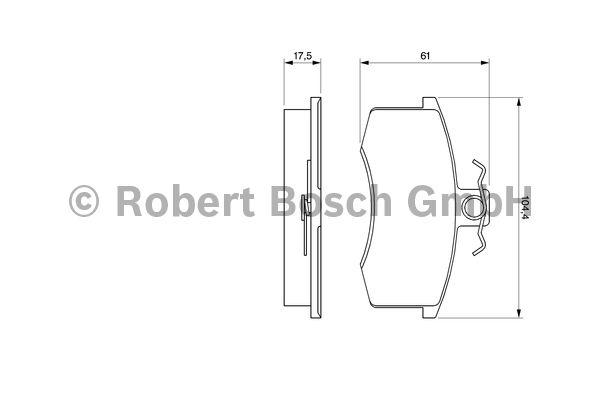 Kit de plaquettes de frein, frein à disque - BOSCH - 0 986 491 700