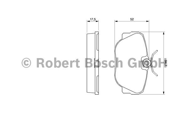 Kit de plaquettes de frein, frein à disque - BOSCH - 0 986 491 730