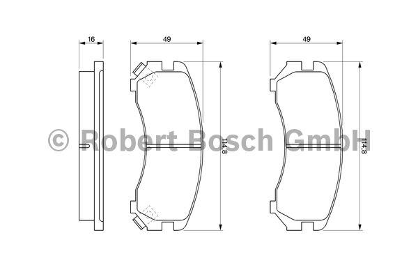Kit de plaquettes de frein, frein à disque - BOSCH - 0 986 493 450