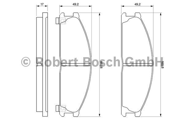 Kit de plaquettes de frein, frein à disque - BOSCH - 0 986 493 480