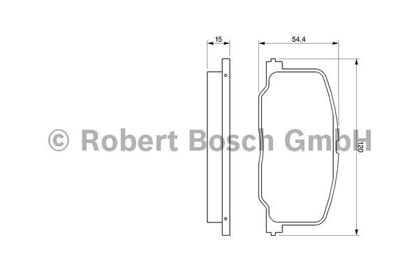Kit de plaquettes de frein, frein à disque - BOSCH - 0 986 493 720