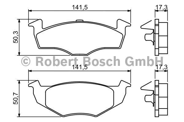 Kit de plaquettes de frein, frein à disque - BOSCH - 0 986 494 005