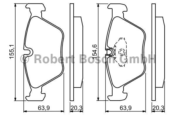 Kit de plaquettes de frein, frein à disque - BOSCH - 0 986 494 007