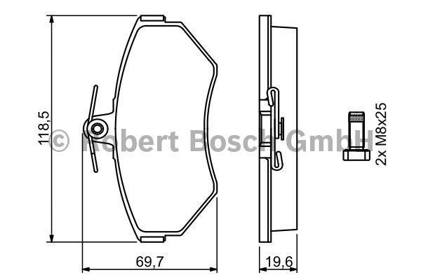 Kit de plaquettes de frein, frein à disque - BOSCH - 0 986 494 021