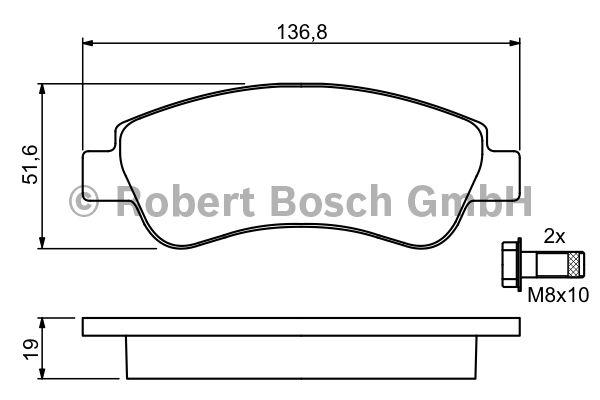 Kit de plaquettes de frein, frein à disque - BOSCH - 0 986 494 027