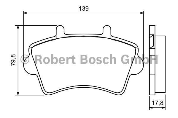 Kit de plaquettes de frein, frein à disque - BOSCH - 0 986 494 031