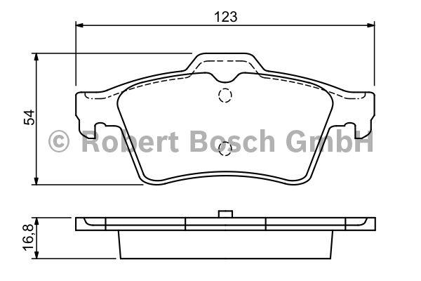 Kit de plaquettes de frein, frein à disque - BOSCH - 0 986 494 032