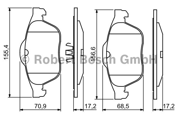 Kit de plaquettes de frein, frein à disque - BOSCH - 0 986 494 033