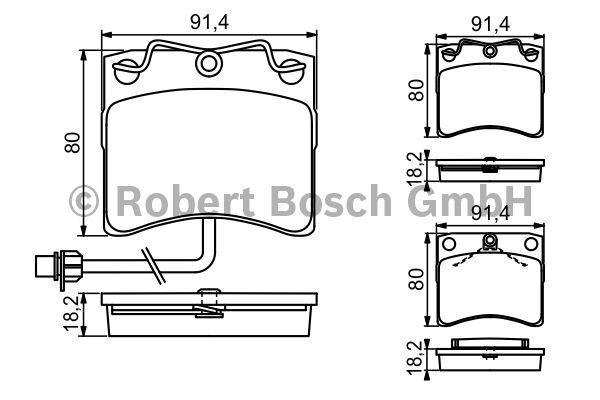 Kit de plaquettes de frein, frein à disque - BOSCH - 0 986 494 041