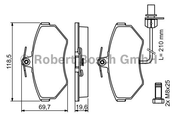 Kit de plaquettes de frein, frein à disque - BOSCH - 0 986 494 042